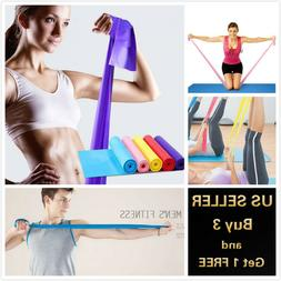 5 Feet Stretch Resistance Bands Exercise Pilates Yoga GYM Wo