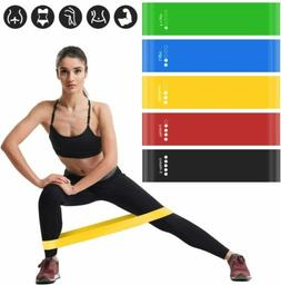 5 Pcs Resistance Exercise Loop Bands Fitness Yoga Training B