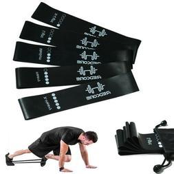 5 Pcs Workout Resistance Bands Loop Man Set Gym CrossFit Fit