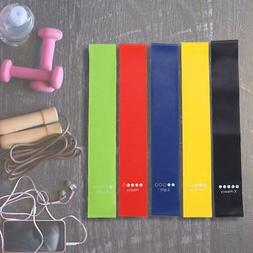 5 Pcs Yoga Resistance Loop Bands Indoor Outdoor Gym Fitness