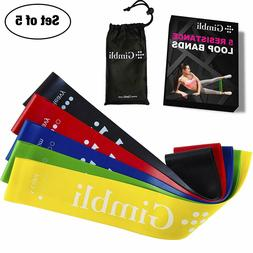 5 RESISTANCE BANDS LOOP Exercise Fitness Yoga Workout Traini