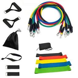 5 Resistance Bands Loop Exercise Sports Fitness Home Gym Yog
