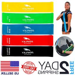 New 5 Set Bands Multi Resistance Loop Training Band Heavy Gy