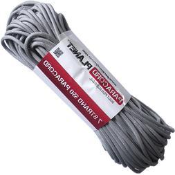 PARACORD PLANET 550 100 Foot Hank Silver Grey Parachute Cord