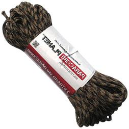 Paracord Planet 550 lb, 100' Foot Hank, Brown Camo Parachute