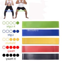 5Colors Yoga Resistance Rubber Bands Indoor Outdoor Fitness
