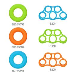 6PCS Hand Resistance Bands Finger Stretcher Extensor Exercis