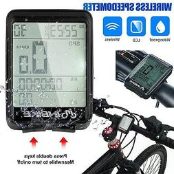 Waterproof Wireless LCD Digital Cycle Bike Computer Bicycle