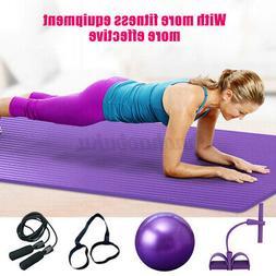 7Pcs/set Exercise Yoga Fitness Equipment Yoga Mat Pilates Ba