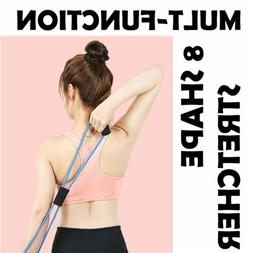 8 Shaped Pull Rope Resistance Bands Chest Expander Indoor Gy