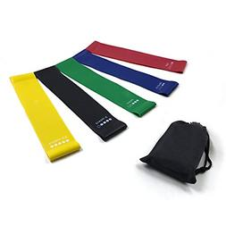 9 inch exercise resistance band loops set of 5 workout bands