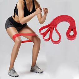 Clearance Sale!DEESEE1PC Resistance Band Loop Yoga Pilates H