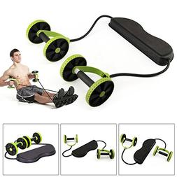 EDTara Ab Roller Wheel with Elastic Resistance Band for Arm