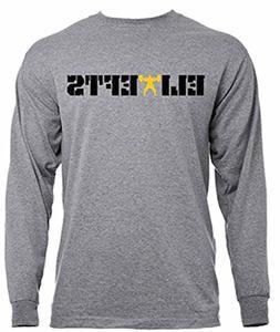 EliteFTS Men's Rocky Gold Long Sleeve Tee XL Gray