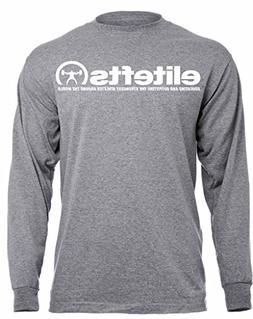 EliteFTS Men's Tagline Long Sleeve Tee XL Gray