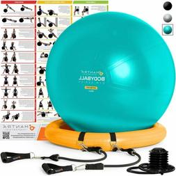 Mantra Sports Exercise Ball Bundle: 65cm / 75cm Fitness Ball