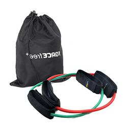 Forcefree+ Resistance Bands - Heavy Duty Tube with Padded An