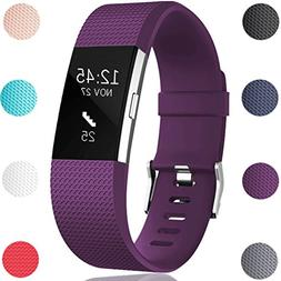 GEAK For Fitbit Charge 2 Bands, Classic Sports Replacement B