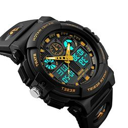Mens Shock Outdoor Sports Led Digital Watch Dual Time Displa