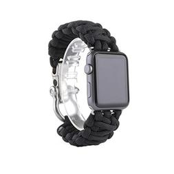 SUKEQ For Apple Watch Series 3 Band, New Paracord Rugged Nyl