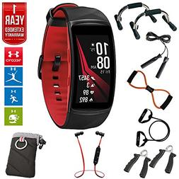Samsung Gear Fit2 Pro Fitness Smartwatch - Red, Large  + Fus