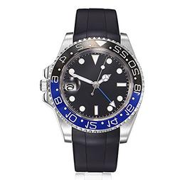 Sapphire Glass Parnis 40MM Black Sterile Dial GMT Pointer Au