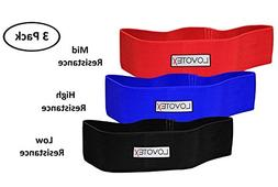 Set of 3-3 Levels Hip Resistance Bands Circle Loop Workout W