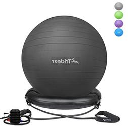 Trideer 75cm Exercise Ball Chair, Stability Ball Ring & Pump