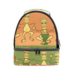 LORVIES Aborigine Band Lunch Bag Dual Deck Insulated Lunch C