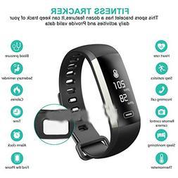 Sports Activity Sleep Tracker Heart Rate Fitness Pedometer B