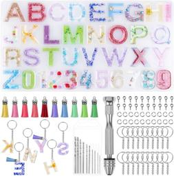 Alphabet Silicone Resin Molds Letter Number Epoxy Molds Keyc