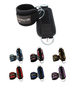 Ankle Straps for Cable Machines- Adjustable Strap with D-Rin
