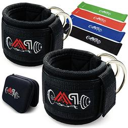 Paafit Ankle Straps for Cable Machines Pair of two Bundled w