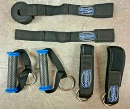 ankle straps and resistance bands handles solid