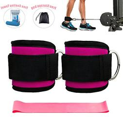 Kecho Ankle Straps Cable Machines Resistance Band Plus Carry