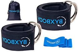 ByxBody Ankle Straps for Cable Machines and Resistance Band