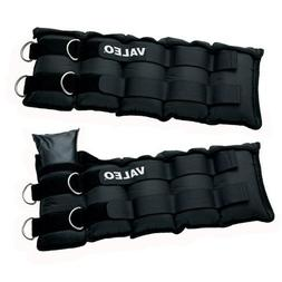 Valeo Adjustable Ankle/Wrist Weights - 20 lbs Total  With Ad