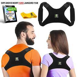 Back Posture Corrector for Women and Men + Resistance Band -