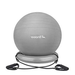 Trideer Ball Chair – Exercise Stability Yoga Ball with Bas