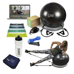 Exercise Ball With Resistance Bands Fitness Bundle Accessori