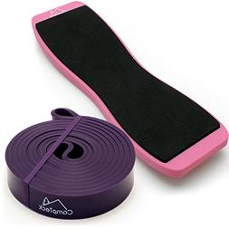 Figure Skating CampTeck Ballet Equipment Kit Foot Balance Training Resistance Stretching Band /& Dance Turning Board Ballet Pirouette Spin Board for Ballet Dancers Rotation Practice