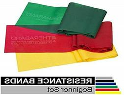 Theraband Beginner Starter Set Latex Free - Yellow, Red, Gre