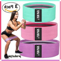Best 3 Pc Set Fabric Non Slip Hip Resistance Bands for Butt