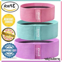 Best 3 Set Thicken Fabric Non Slip Hip Resistance Bands for