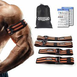 BFR Occlusion Wraps Pro Resistance Bands Fitness Arm Leg Bla