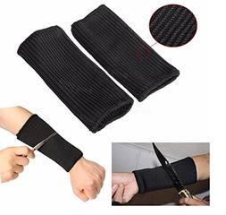 Haobase Black Kevlar Sleeve Arm Protection Sleeve Anti-Cut B