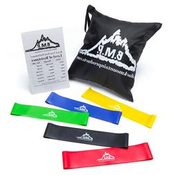 Black Mountain Products Loop Resistance Exercise Bands Set o