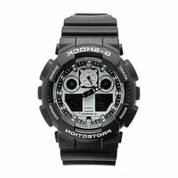 G-Shock® Men's Black and White Analog-Digital Watch
