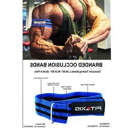 Blue & Black Occlusion Training Bands Arm Leg Growth Blood F