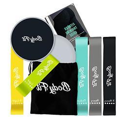Bodyfit Premium Gliding Discs & Quality resistance Bands Set